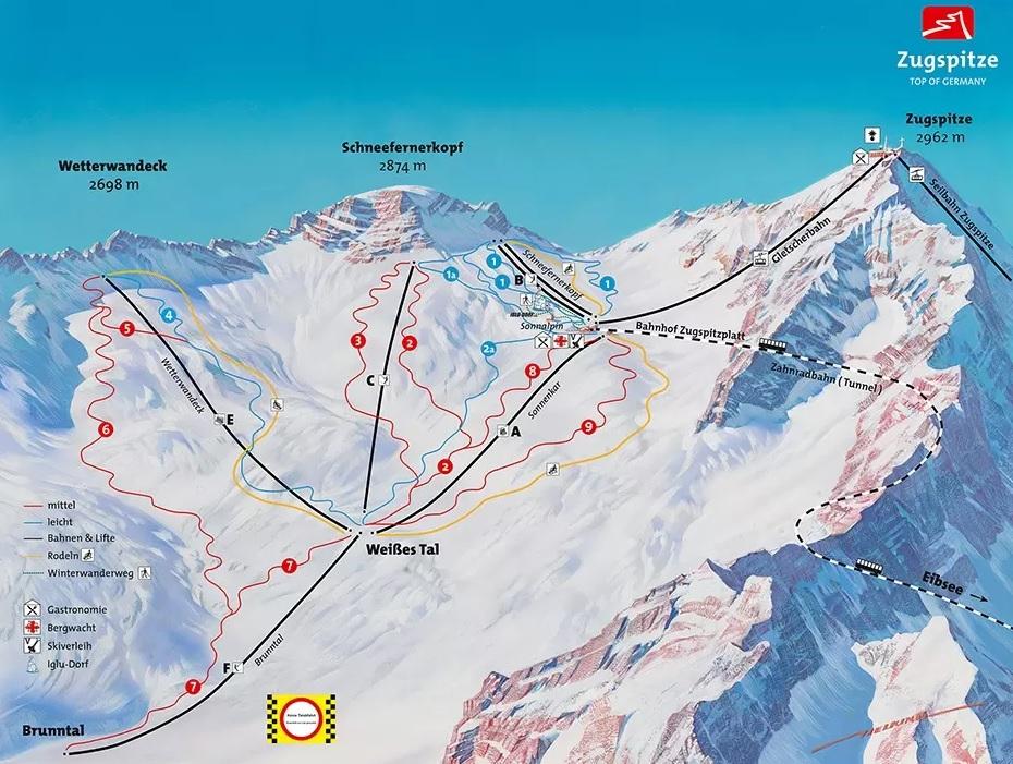 Zugspitze_trasy