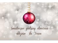 Sklepy Ski Team - godziny otwarcia w Wigilię i Sylwestra 2017